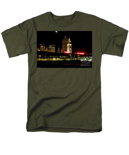 San Francisco Nights Men's T-Shirt  (Regular Fit) by Mitch Shindelbower
