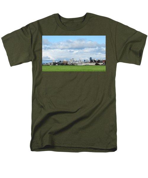 San Francisco Skyline From Crissy Field Men's T-Shirt  (Regular Fit)