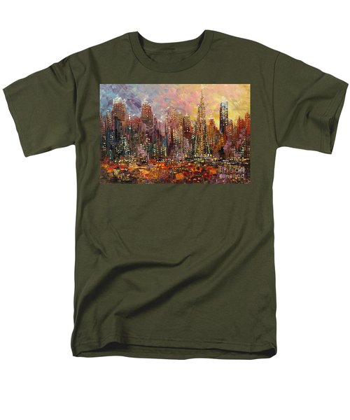 Men's T-Shirt  (Regular Fit) featuring the painting San Francisco by Tatiana Iliina