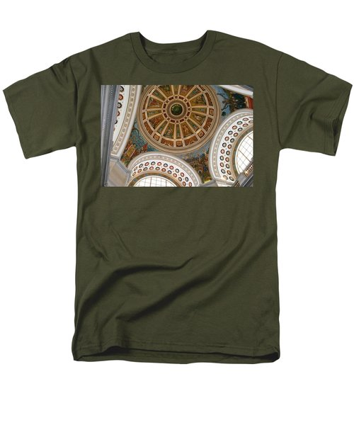 Men's T-Shirt  (Regular Fit) featuring the photograph San Juan Capital Building Ceiling by Lois Lepisto