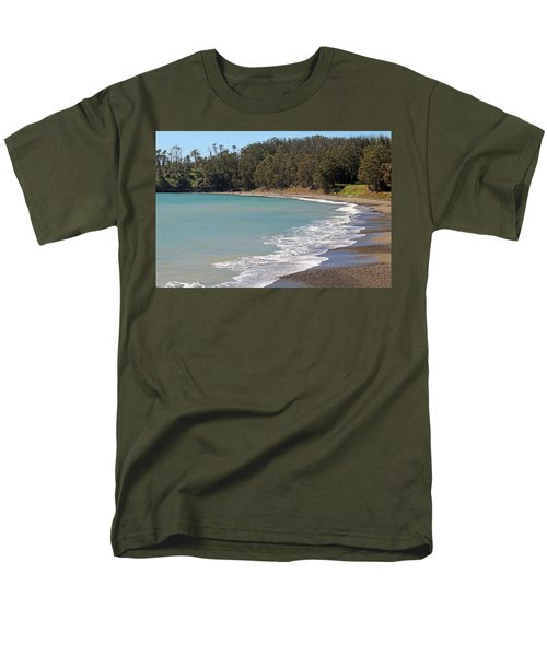 Men's T-Shirt  (Regular Fit) featuring the photograph San Simeon Cove by Art Block Collections