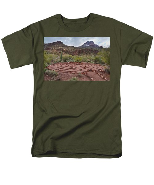 Men's T-Shirt  (Regular Fit) featuring the photograph Sanctuary Cove Labyrinth by Donna Greene