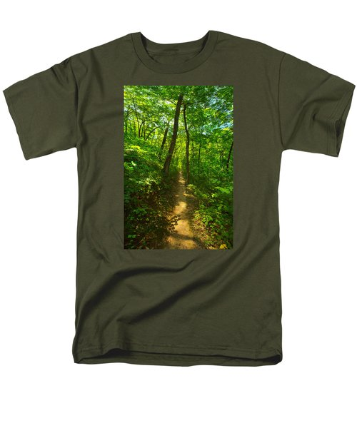 Sand Cave Trail Men's T-Shirt  (Regular Fit) by Phil Koch
