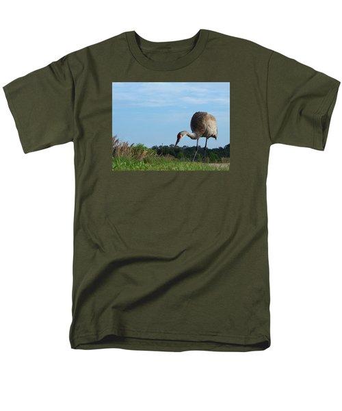 Sandhill Crane 018 Men's T-Shirt  (Regular Fit) by Chris Mercer