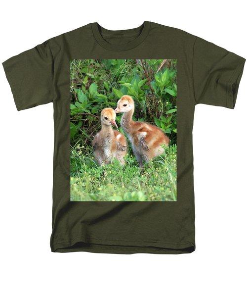 Sandhill Crane Chicks 001 Men's T-Shirt  (Regular Fit) by Chris Mercer