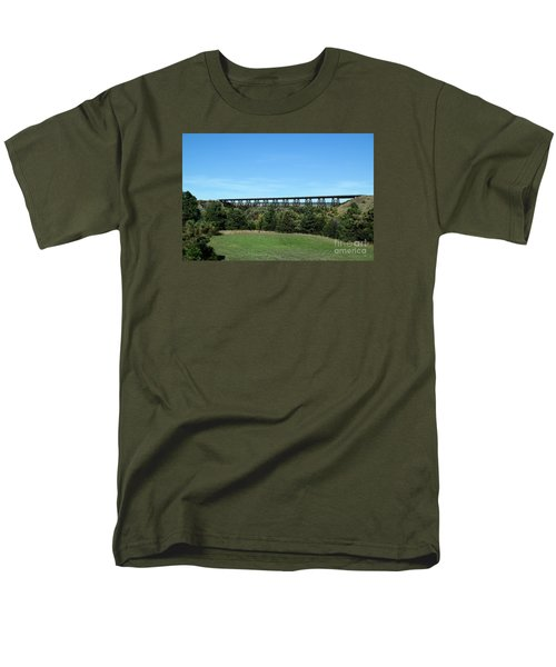 Men's T-Shirt  (Regular Fit) featuring the photograph Sandhills Railroad Bridge  by Mark McReynolds