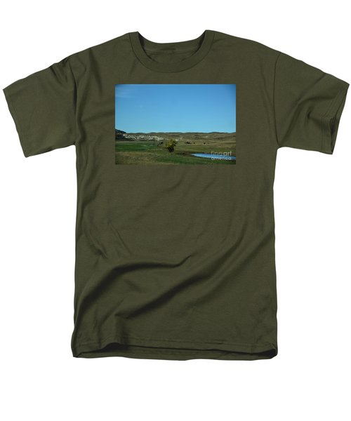 Men's T-Shirt  (Regular Fit) featuring the photograph Sandhills Ranch by Mark McReynolds