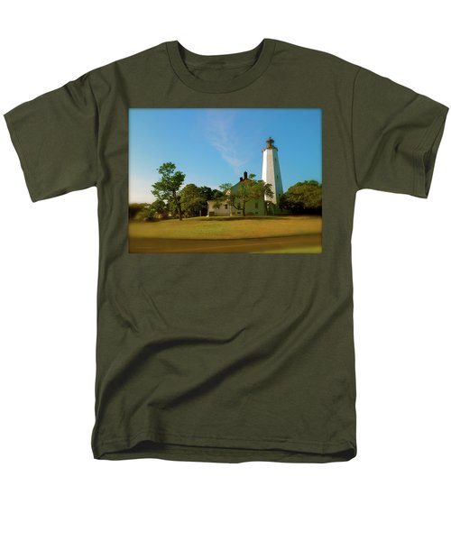 Men's T-Shirt  (Regular Fit) featuring the photograph Sandy Hook Lighthouse by Iconic Images Art Gallery David Pucciarelli