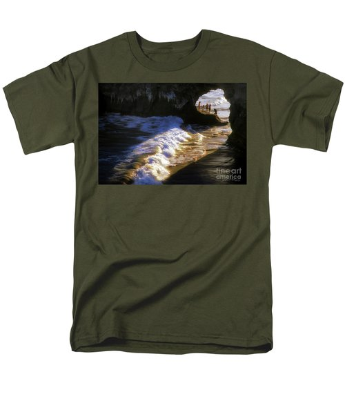Men's T-Shirt  (Regular Fit) featuring the photograph Santa Cruz 'bridge' California Coastline by John A Rodriguez