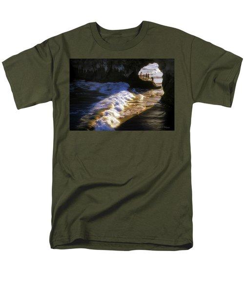 Santa Cruz 'bridge' California Coastline Men's T-Shirt  (Regular Fit) by John A Rodriguez