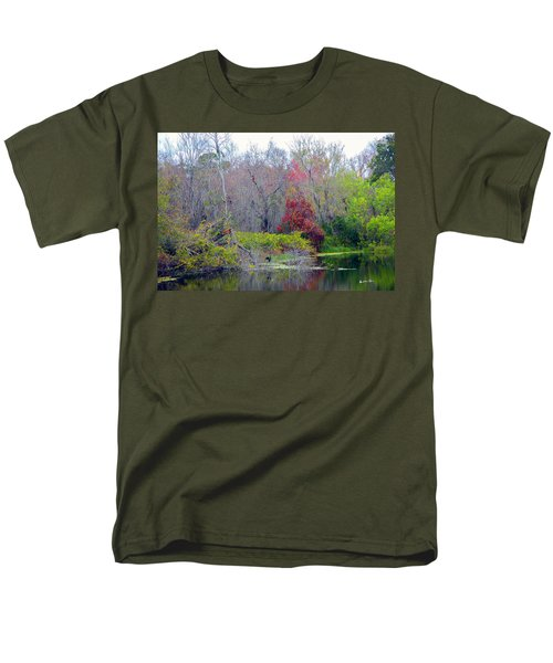 Men's T-Shirt  (Regular Fit) featuring the photograph Sarasota Reflections by Madeline Ellis