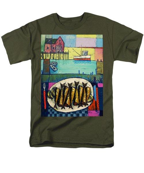 Sardines Men's T-Shirt  (Regular Fit) by Mikhail Zarovny