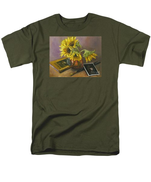 Sargent And Sunflowers Men's T-Shirt  (Regular Fit) by Lisa  Spencer