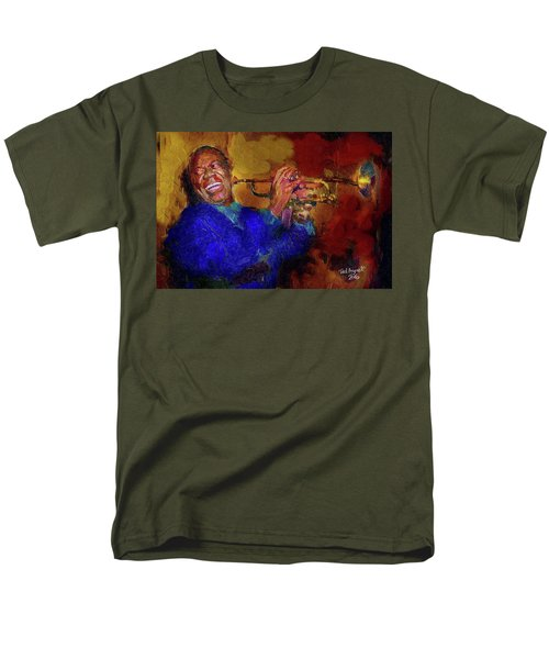 Men's T-Shirt  (Regular Fit) featuring the painting Satchmo by Ted Azriel