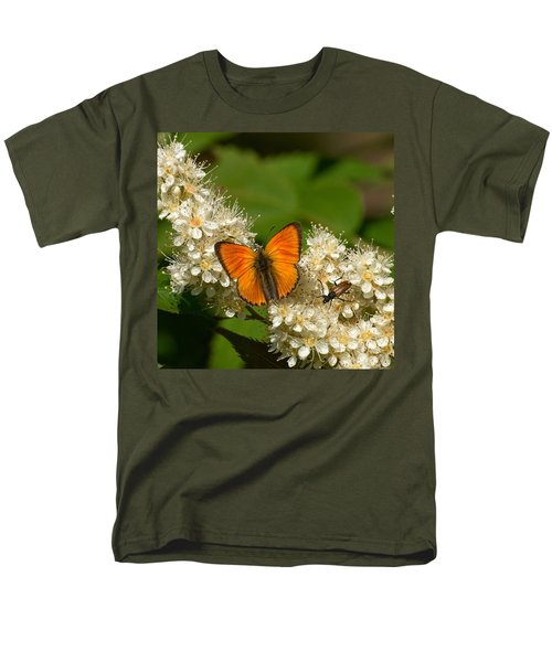 Men's T-Shirt  (Regular Fit) featuring the photograph Scarce Copper 2 by Jouko Lehto