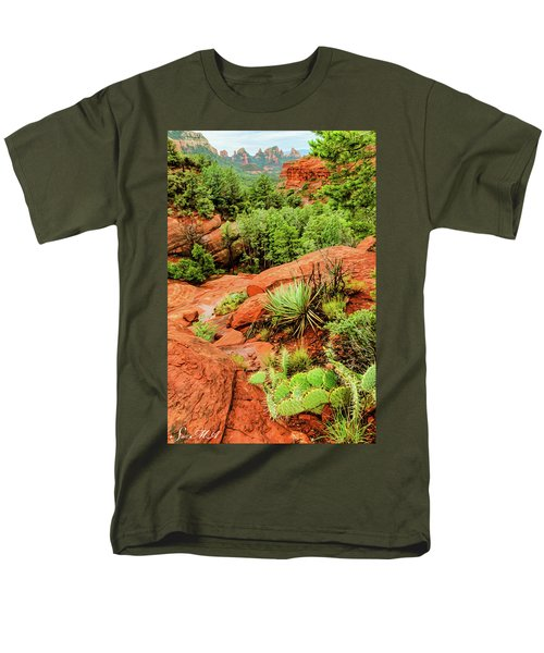 Schnebly Hill 07-057 Men's T-Shirt  (Regular Fit) by Scott McAllister