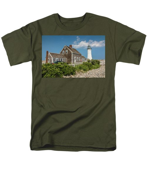 Scituate Lighthouse In Scituate, Ma Men's T-Shirt  (Regular Fit) by Peter Ciro