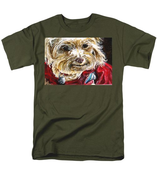 Scooter From Muttville Men's T-Shirt  (Regular Fit) by Mary-Lee Sanders