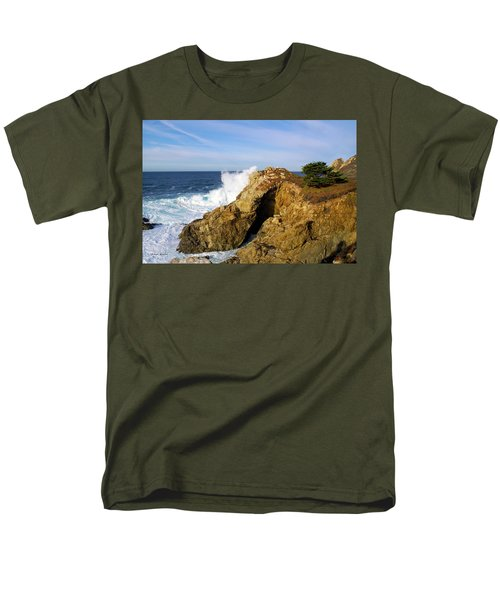 Men's T-Shirt  (Regular Fit) featuring the photograph Sea Cave Big Sur by Floyd Snyder