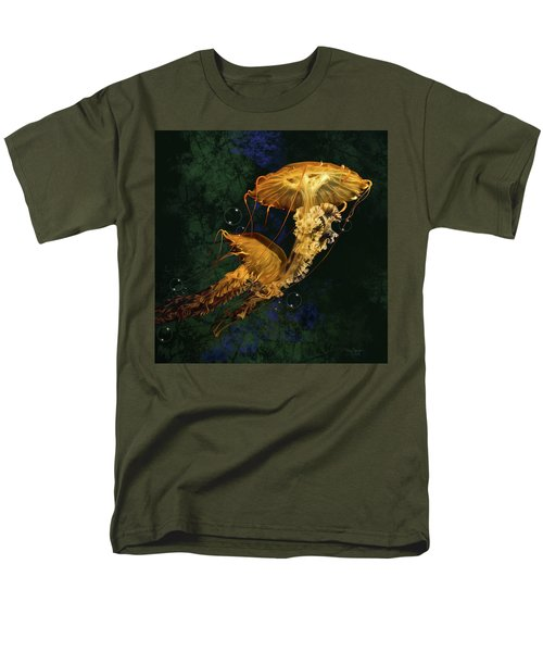 Men's T-Shirt  (Regular Fit) featuring the digital art Sea Nettle Jellies by Thanh Thuy Nguyen