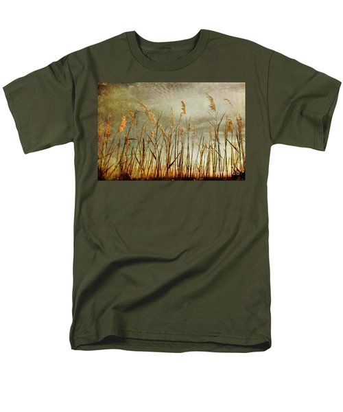 Men's T-Shirt  (Regular Fit) featuring the photograph Sea Oats And Sky On Outer Banks Fx by Dan Carmichael