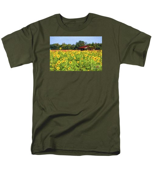 Sea Of Sunflowers Men's T-Shirt  (Regular Fit) by Bonnie Barry