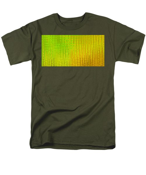 Sea Song Green And Gold Men's T-Shirt  (Regular Fit) by Stephanie Grant