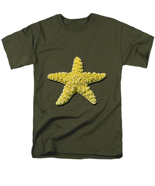 Sea Star Yellow .png Men's T-Shirt  (Regular Fit) by Al Powell Photography USA