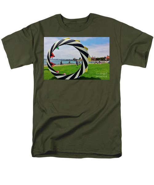 Men's T-Shirt  (Regular Fit) featuring the photograph Seaport Villagethrough My Lens by Jasna Gopic