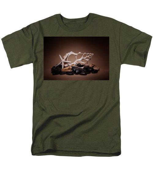 Men's T-Shirt  (Regular Fit) featuring the photograph Seashells On The Rocks by Tom Mc Nemar