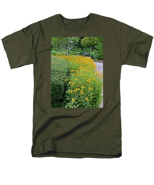 Men's T-Shirt  (Regular Fit) featuring the photograph Secret Garden by Judy Vincent