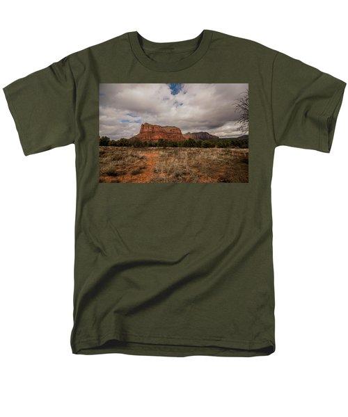Sedona National Park Arizona Red Rock 2 Men's T-Shirt  (Regular Fit) by David Haskett
