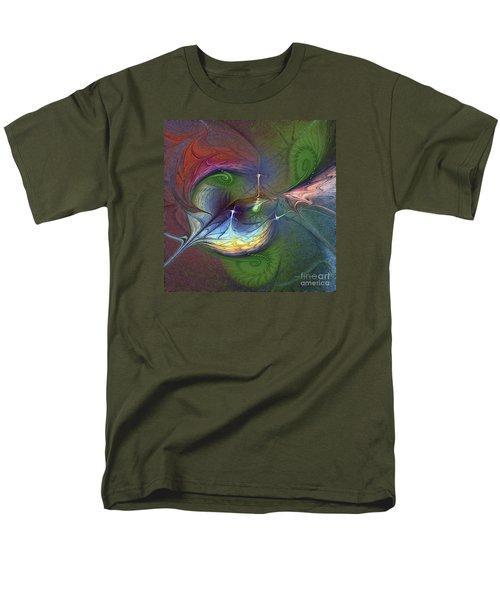 Men's T-Shirt  (Regular Fit) featuring the digital art Sentimental Journey by Karin Kuhlmann