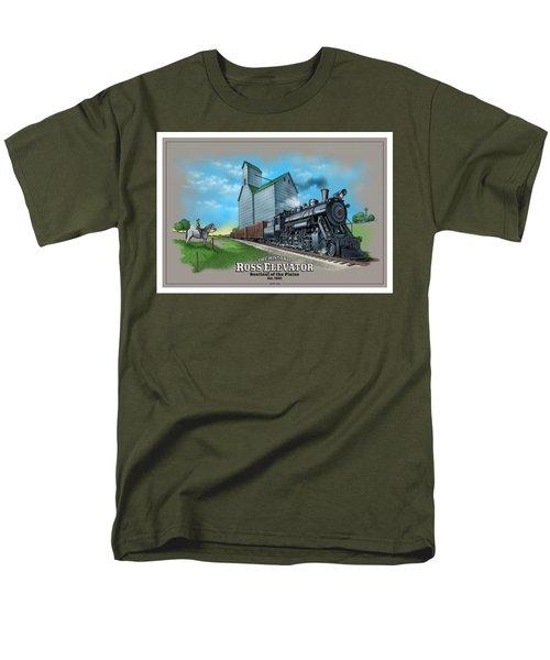 The Ross Elevator Sentinel Of The Plains Men's T-Shirt  (Regular Fit) by Scott Ross