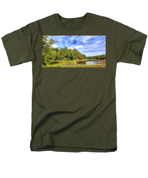 Men's T-Shirt  (Regular Fit) featuring the photograph Serenity On Bald Mountain Pond by David Patterson