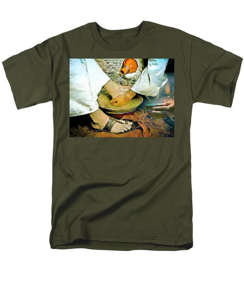 Serving One Another Men's T-Shirt  (Regular Fit) by Wayne Pascall