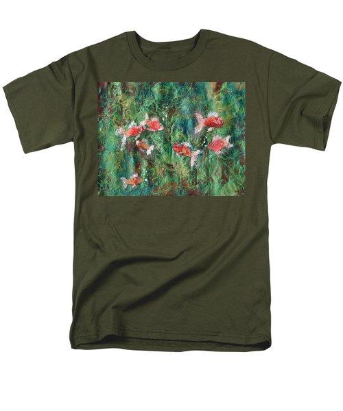 Seven Little Fishies Men's T-Shirt  (Regular Fit) by Maria Watt