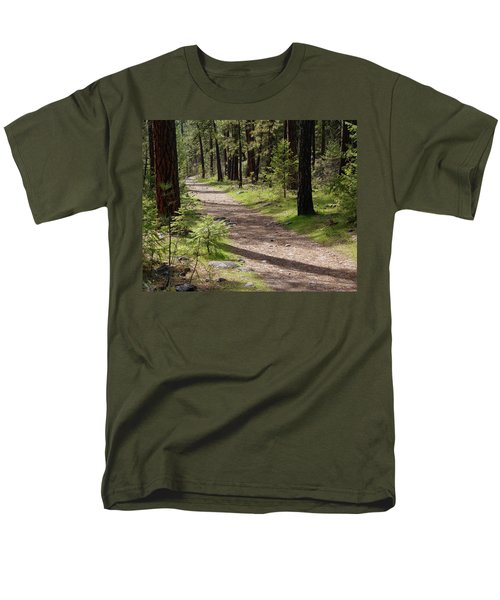 Men's T-Shirt  (Regular Fit) featuring the photograph Shadows On The Path by Ben Upham III