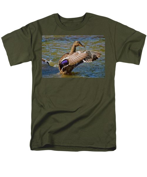 Men's T-Shirt  (Regular Fit) featuring the photograph Shake It Off by Linda Unger