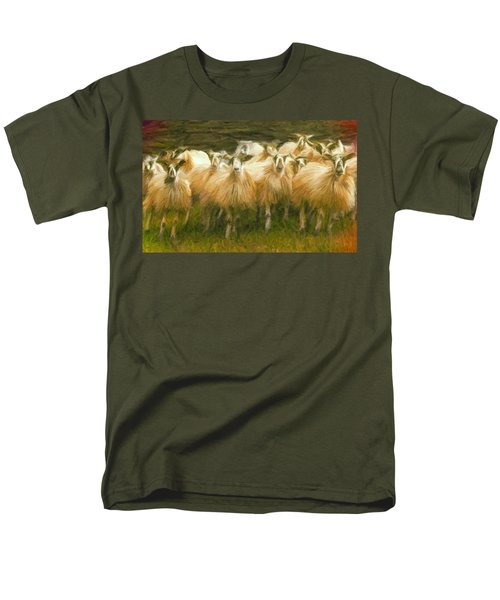 Sheep At Hadrian's Wall Men's T-Shirt  (Regular Fit) by Caito Junqueira
