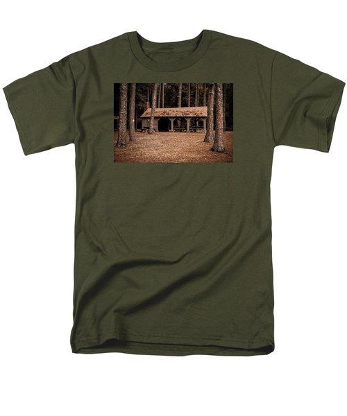 Shelter In The Woods Men's T-Shirt  (Regular Fit) by Menachem Ganon