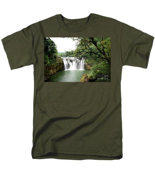 Men's T-Shirt  (Regular Fit) featuring the photograph Shifen Waterfall  by Hanza Turgul