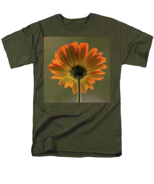 Shine Bright Gerber Daisy Square Men's T-Shirt  (Regular Fit) by Terry DeLuco