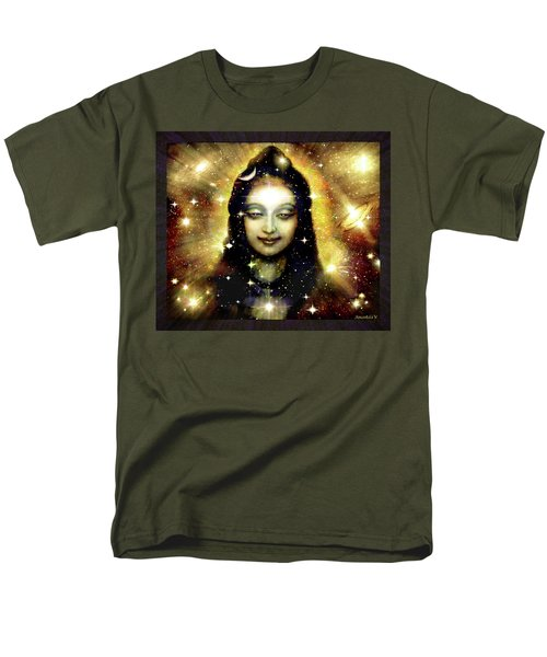 Shiva In Golden Space  Men's T-Shirt  (Regular Fit) by Ananda Vdovic
