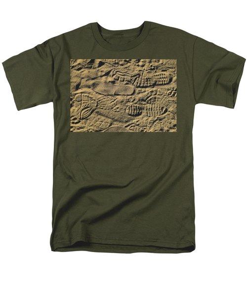 Men's T-Shirt  (Regular Fit) featuring the photograph Shoe Prints by R  Allen Swezey