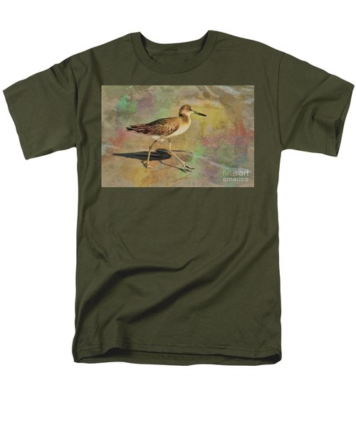 Men's T-Shirt  (Regular Fit) featuring the painting Shore Bird Beauty by Deborah Benoit