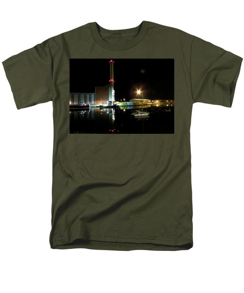 Shoreham Power Station Night Reflection 2 Men's T-Shirt  (Regular Fit) by John Topman