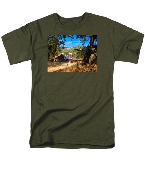 Men's T-Shirt  (Regular Fit) featuring the photograph Short Legged Barn by Laura Ragland