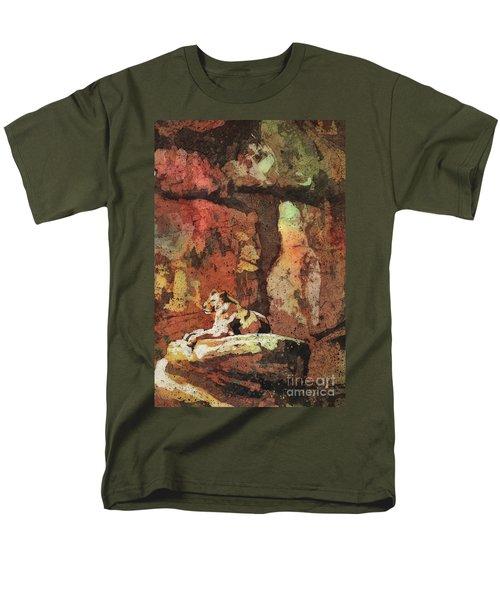 Men's T-Shirt  (Regular Fit) featuring the painting Short Reprieve by Ryan Fox