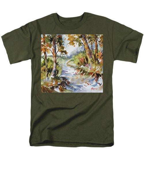 Side Track Men's T-Shirt  (Regular Fit)